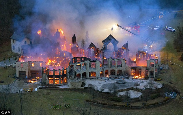 Family's $4m dream mansion that took them three years to build burns down in dramatic blaze