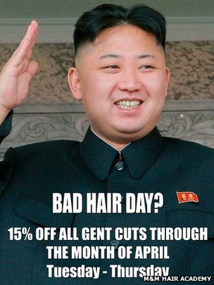 North Korean officials visit salon over Kim Jong-un 'bad hair' advert