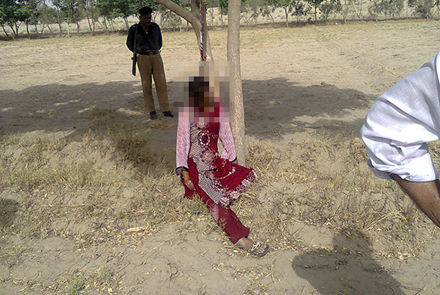 Pakistani woman, 20, gang-raped, killed and hanged from a tree, say police