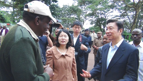 Chinese VP sees 'Huashan' while on Tanzanian safari