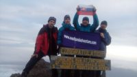 Cellebrating at Mount Meru peak 4566m