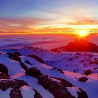 Sunrises view from Kilimanjaro