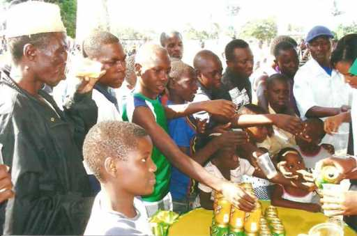 Mwanza residents enjoying Maltiza drinks' taste yesterday at Furahisha grounds in Mwanza.